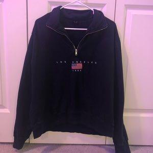 navy brandy quarter zip